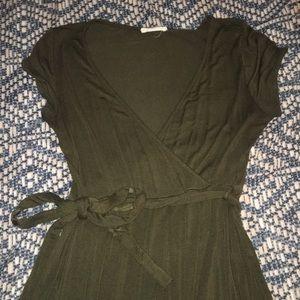 Asymmetrical Olive Green Dress